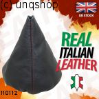 Leather Gear Gaiter (Black with red stitch) VW Polo Mk3 6N2