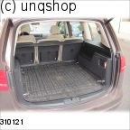 Cargo net VW Sharan Mk2 , only for with closed third row seat